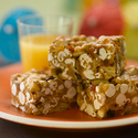 Tropical Fruit and Nut Popcorn Bars