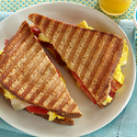 Scrambled Eggs, Bacon & Tomato Panini